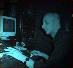 Riccardo in the studio
